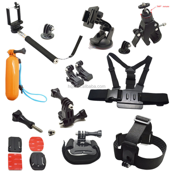2016 Wholesale Camera Mounts Accessories Kit Go Pro Accessories Set for Gopros hero4