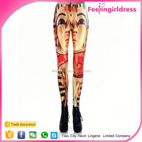 China Spandex Polyester Material Printed 3d leggings