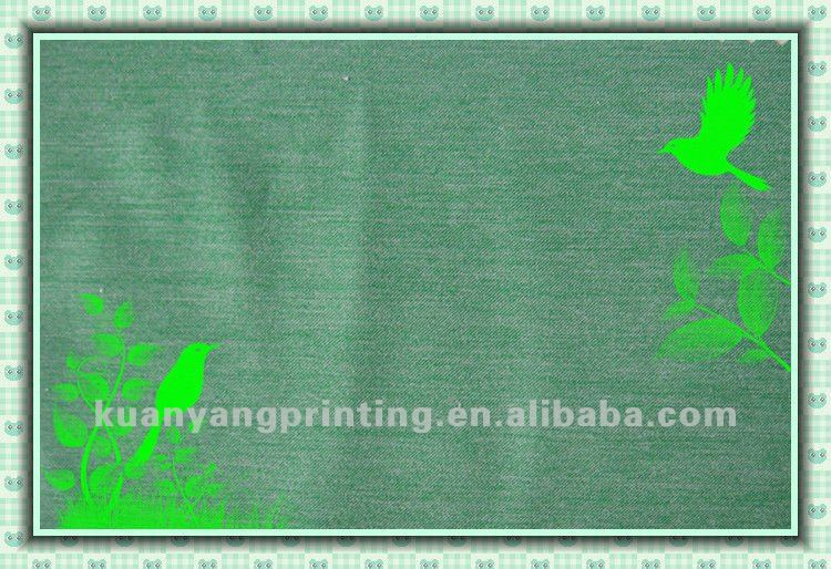 Jacquard Polyester Spandex Cation stretch dyed green woven Fabric