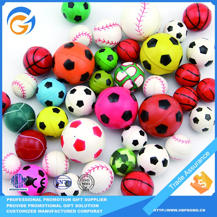 Mixed Color Bouncy Sports Rubber Printed Bouncing Ball