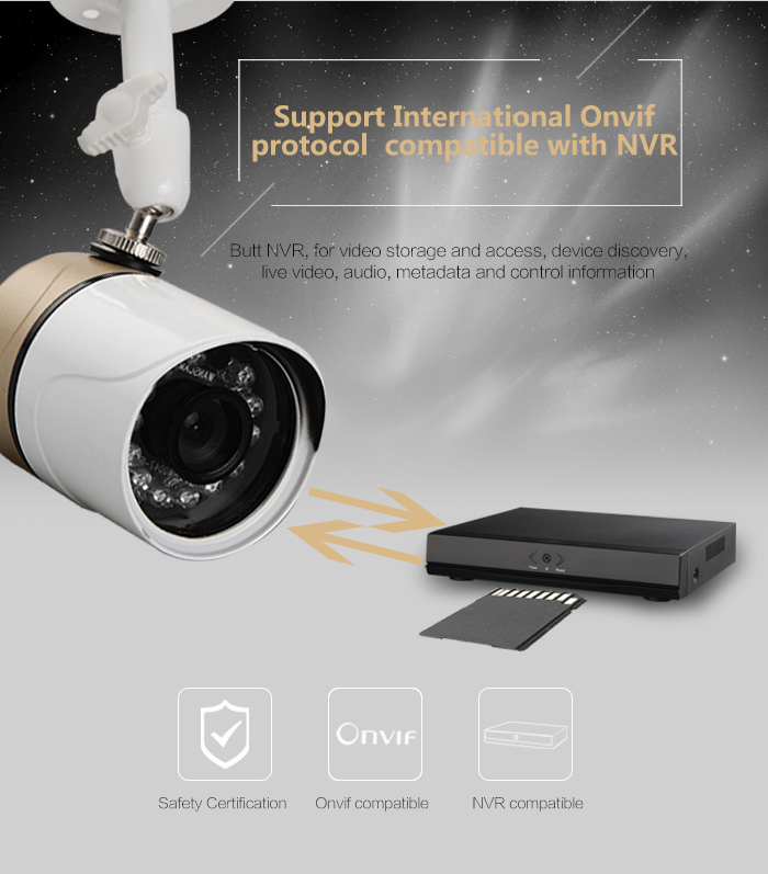Hot New Arrival Manual Recording HD Support USB Flash Disk Store Surveiilace CCTV Bullet Camera