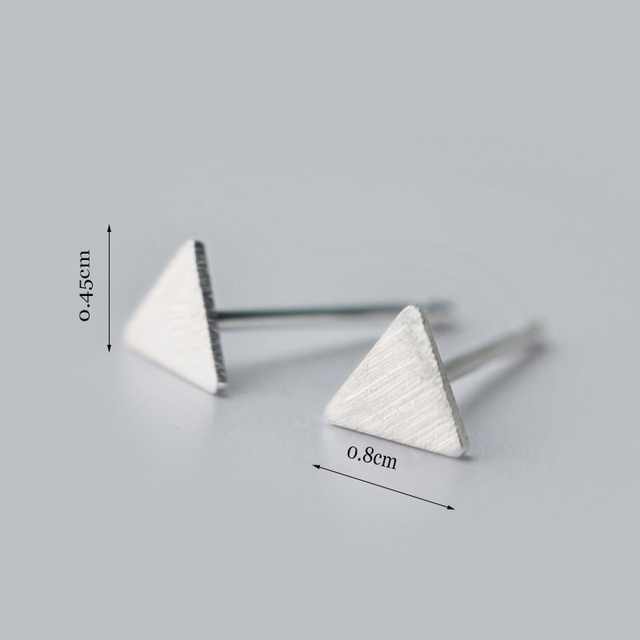 boho 925 sterling silver triangle stud earrings simple pyramid geometric earrings minimalist earring female boucles d'oreilles
