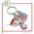 Promotional London kinds of keychains star shape key ring key holder in China