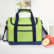 Polyester fabric promotional lunch box cooler bags insulated water drink cooler bag