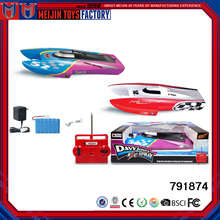 Factory customized plastic material electric rc racing boat