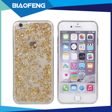 Luxury stylish gold leaf bling bling phone case TPU mobile cover case for iphone6,6s,6 plus