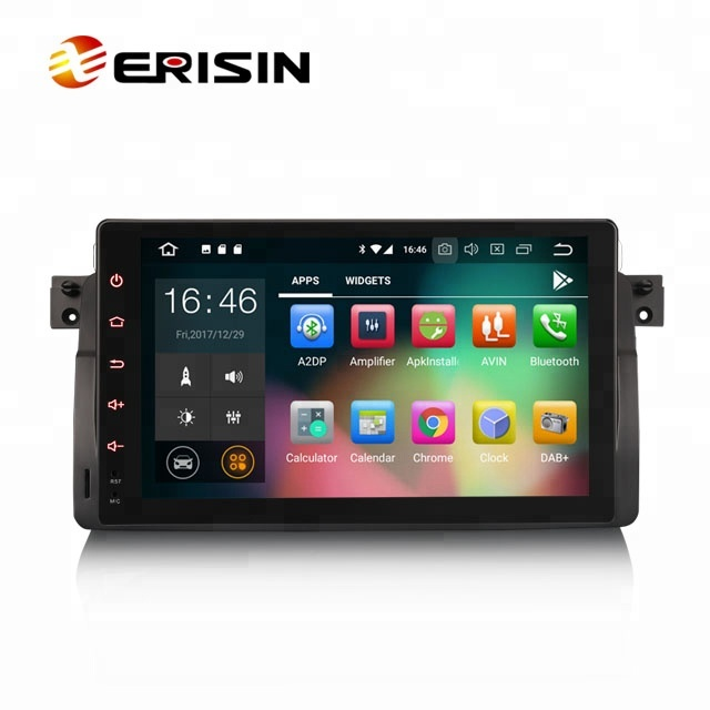 "Erisin ES7803B 9"" Android 8.0 1 Din Car GPS DVD <strong>Player</strong> Wifi 4G DVR DAB+ DTV Car DVD <strong>Player</strong> for BMW 3er E46 M3 Rover 75 MG ZT"