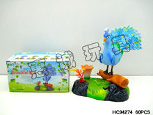 Animated sound control singing bird peacock toy HC94274