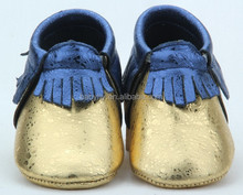 Guangzhou new arrival genuine leather baby moccasins shoes