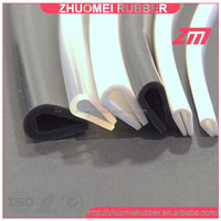 silicone edging strips, U channle extruded silicone seals