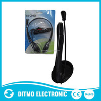 2015 Cheapest computer headphone with Microphone ,Clear sound computer headphone