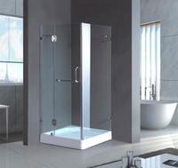 buy direct from china factory tempered glass frameless shower enclosure
