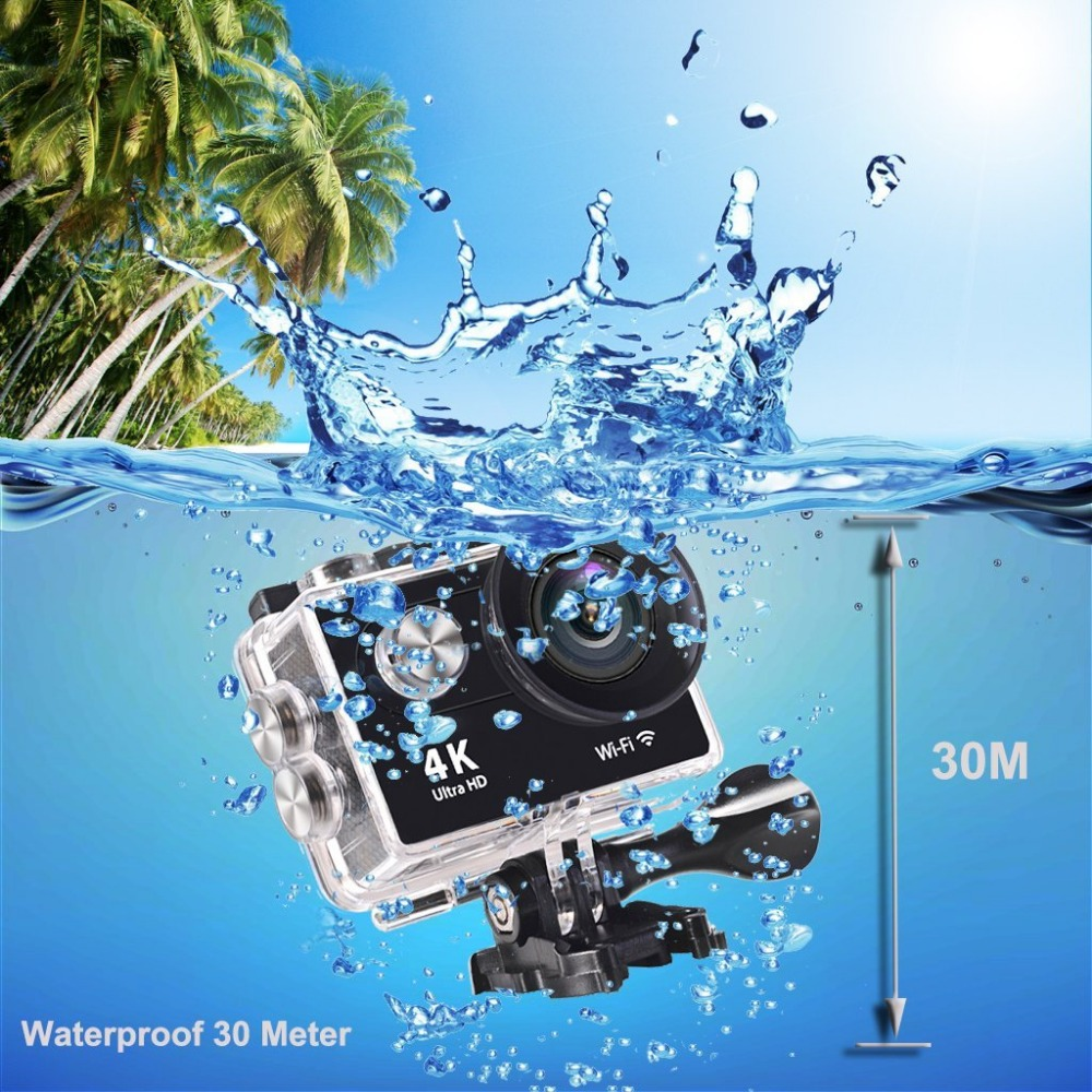 EKEN H9R Wifi Waterproof Action Camera Sports Camera 4K 25fps with 2 Batteries+ 2.4G Remote +Selfie Stick + Charging Dock