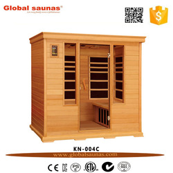 2016 hot sale solid wood home use far infrared sauna for 4 persons KN-004C