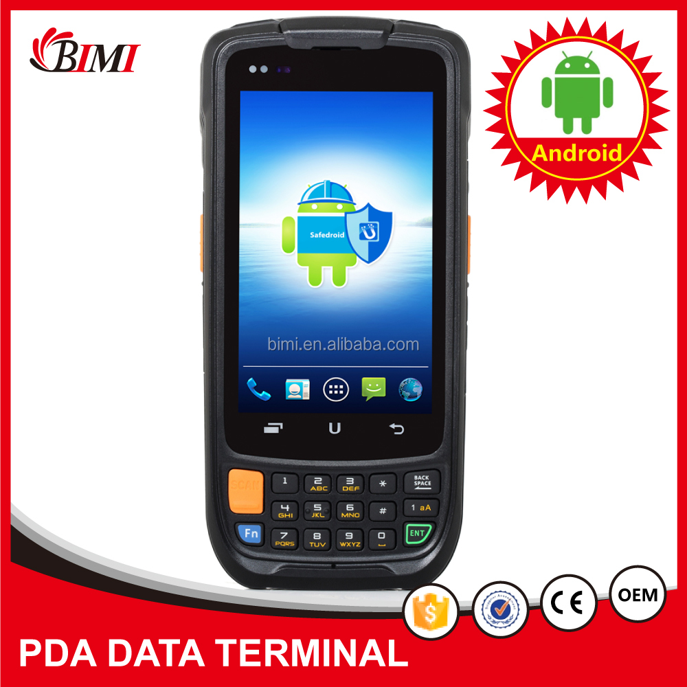 2D barcode scanner Android Rugged Waterproof Android smart phone handheld PDA with android os