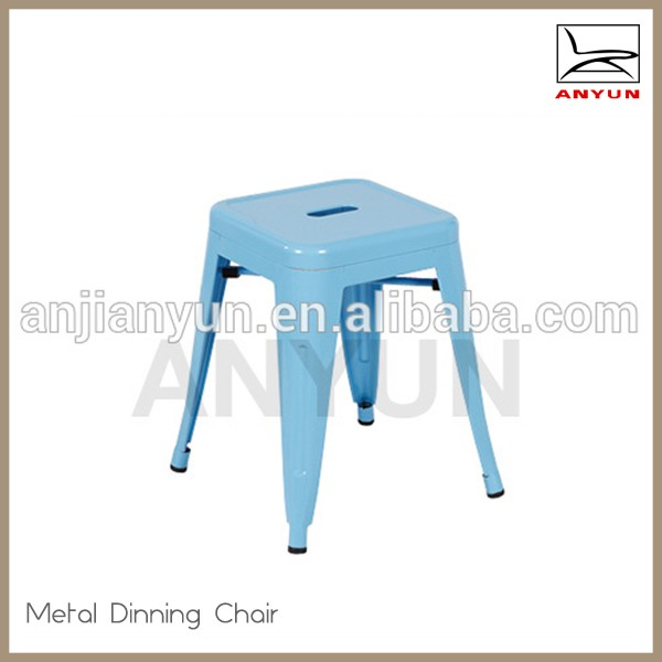 Modern lovely children metal material dining chair