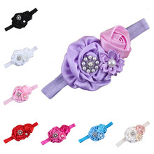Baby Photography Prop Elastic Fabric Flower Hairband