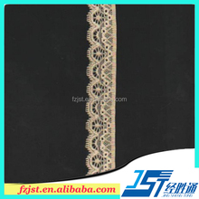 2.7cm Yellow tokay lace trim patterns for lace dress