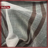 Latest hotel office stripe sheer curtain fabric for modern curtain,dorma plum bloomsbury lined pencil pleat curtains