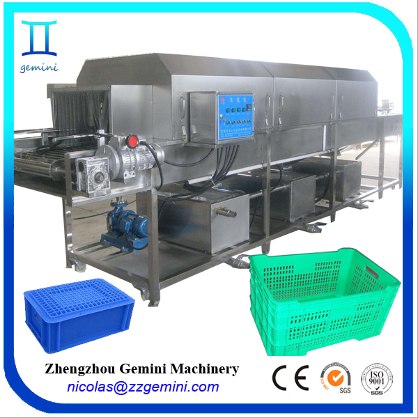 Factory price high pressure 0-15m/min speed adjustable plastic coop cleaning machine