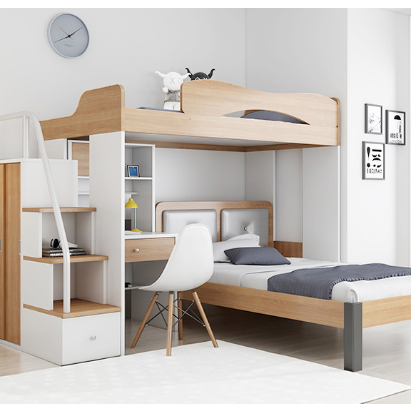 New Design Home Bedroom Furniture Bunk Bed Multi-functional Elevated ...