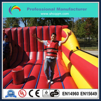 Inflatable sport filed for bungee run inflatable arena for jousting game for kids and adults
