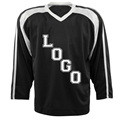 Good quality favorable price hot black customize any style hockey jersey