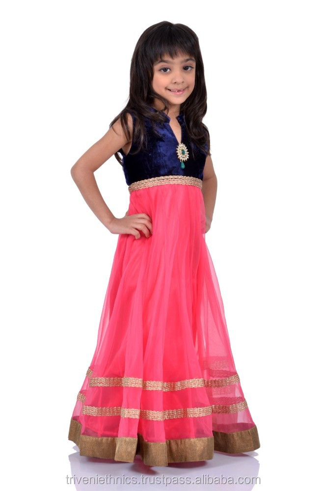Lovely Border Work Party Wear Anarkali Dress