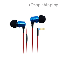 GD550 Hifi Soundproof In-ear Earphone metal Headphones for iphone, samsung, xiaomi with drop shipping service-skype: colsales09