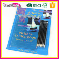 Various Fashionable sketch book pads, sketch book pad, sketch and painting sets