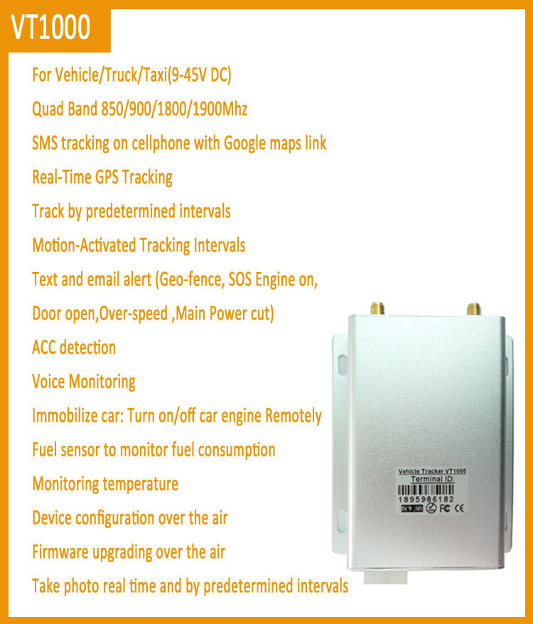 gps fuel tracker with free multi language web platform and camera temperature sensor