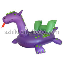 kids adult animal ride-on giant inflatable sea dragon pool float