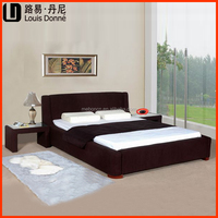 Bedroom furniture Classic Modernism modern design dark brown king size soft bed