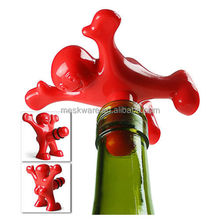 Creative red happy man bottle cap/ plastic bottle cap seal/whisky bottle stopper