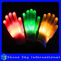 Factory Directly Led Party Supplies Light Up Gloves Rave Dancing Gloves