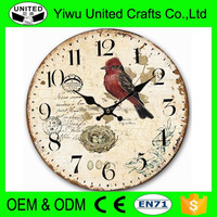Vintage Wooden Carved Wall Clock in MDF
