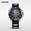 2016 New arrival WEIDE Relogio Masculino Men Analog Digital Display Japan Quartz Military 3ATM Waterproof Business Watches