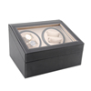 Wooden Leather Automatic Rotation Watch Winder Storage Case Display Box case