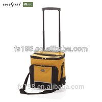 600D polyester Insulated Wine cooler bag trolley cooler bag