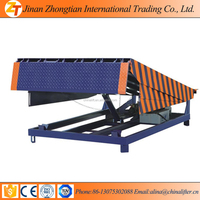Warehouse stationary electric motorcycle truck ramp