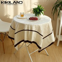 Vintage rustic style fancy new design cream banquet table cloth