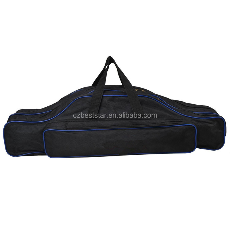 Fisherman Rodster 3 Layer Long Fishing Rod Bags Tackle Rod Organizer Outdoor Carry Case Black