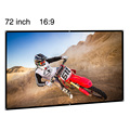 72inch 16:9 aspect ratio matte white projector screen