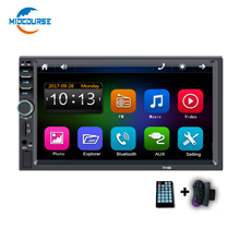 Universal Big Amplifier 7 inch Touch Screen Radio System <strong>Player</strong> 2din 2 din Bluetooth Double din Car Stereo with Camera