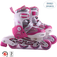 Professional design selling well PU flashing four wheels inline speed skates for kids
