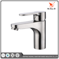 Single lever one hole bathroom stainless steel basin tap