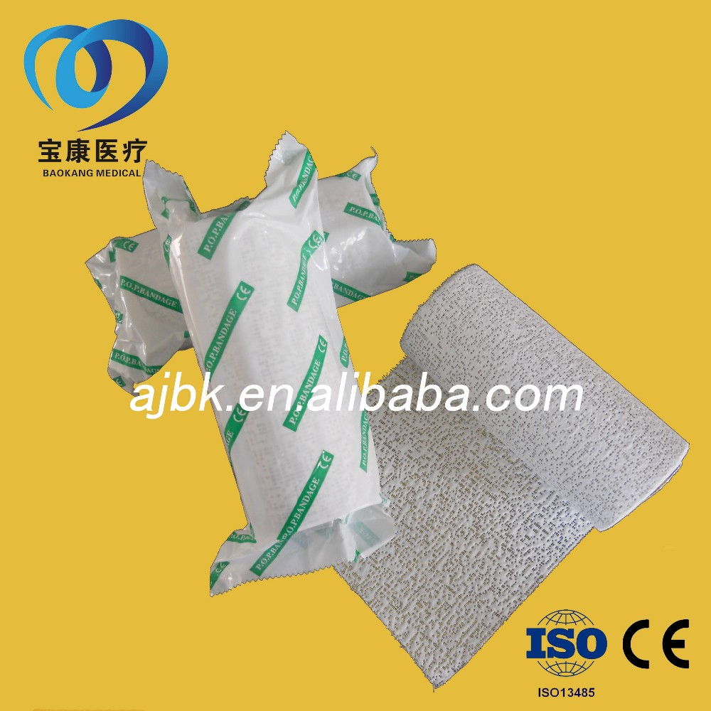Orthopedic medical gypsona pop plaster bandage
