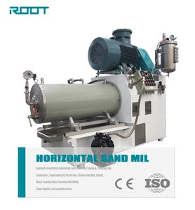 Disc rotor horizontal sand mill for printing ink