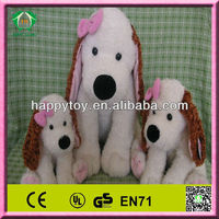 HI CE Lovely long ear dog with butterflies plush toy
