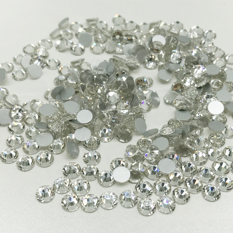 Glass Rhinestone non hotfix 3mm <strong>crystal</strong> clear color for nail